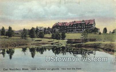 Hotel Northfield & Grounds - East Northfield, Massachusetts MA Postcard