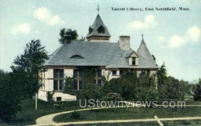 Talcott Library - East Northfield, Massachusetts MA Postcard