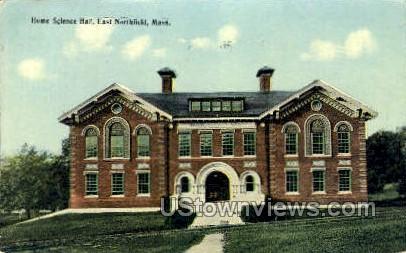 Home Science Hall - East Northfield, Massachusetts MA Postcard