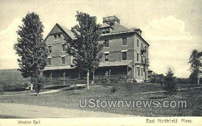 Weston Hall - East Northfield, Massachusetts MA Postcard