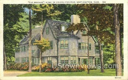Home of Calvin Coolidge - Northampton, Massachusetts MA Postcard