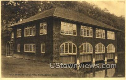 Boat House - Northampton, Massachusetts MA Postcard