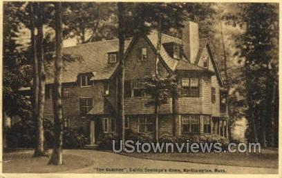 Calvin Coolidge's Home - Northampton, Massachusetts MA Postcard