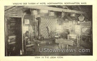 Wiggins Old Tavern - Northampton, Massachusetts MA Postcard