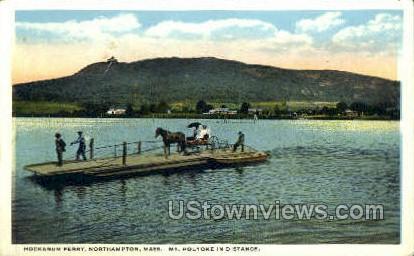 Hockanum Ferry - Northampton, Massachusetts MA Postcard