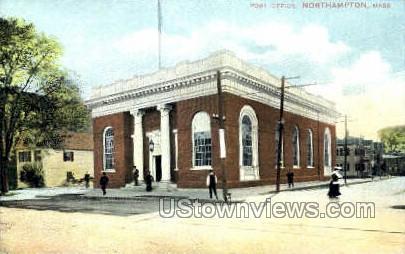 Post Office - Northampton, Massachusetts MA Postcard