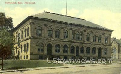 High School - Northampton, Massachusetts MA Postcard