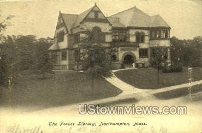 The Forbes Library - Northampton, Massachusetts MA Postcard