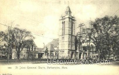 St. Johns Episcopal Church - Northampton, Massachusetts MA Postcard