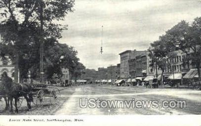 Lower Main St. - Northampton, Massachusetts MA Postcard