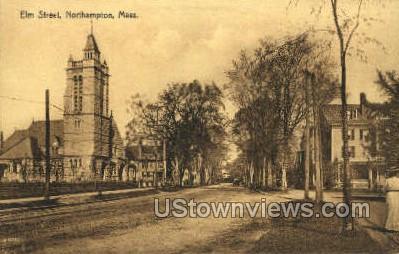 Elm St. - Northampton, Massachusetts MA Postcard
