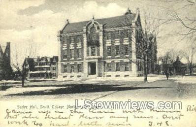 Seelye Hall, Smith College - Northampton, Massachusetts MA Postcard