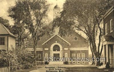 Gymnasium Entrance, Smith College - Northampton, Massachusetts MA Postcard