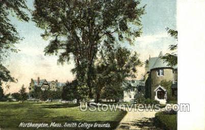 Smith College Grounds - Northampton, Massachusetts MA Postcard