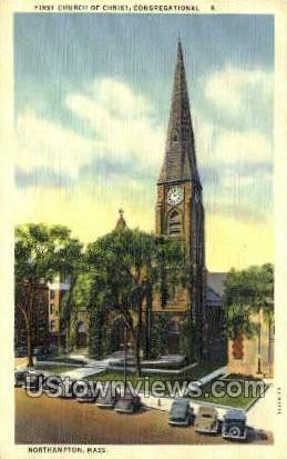 First Church of Christ - Northampton, Massachusetts MA Postcard