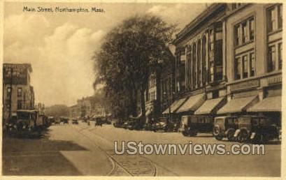 Main St. - Northampton, Massachusetts MA Postcard