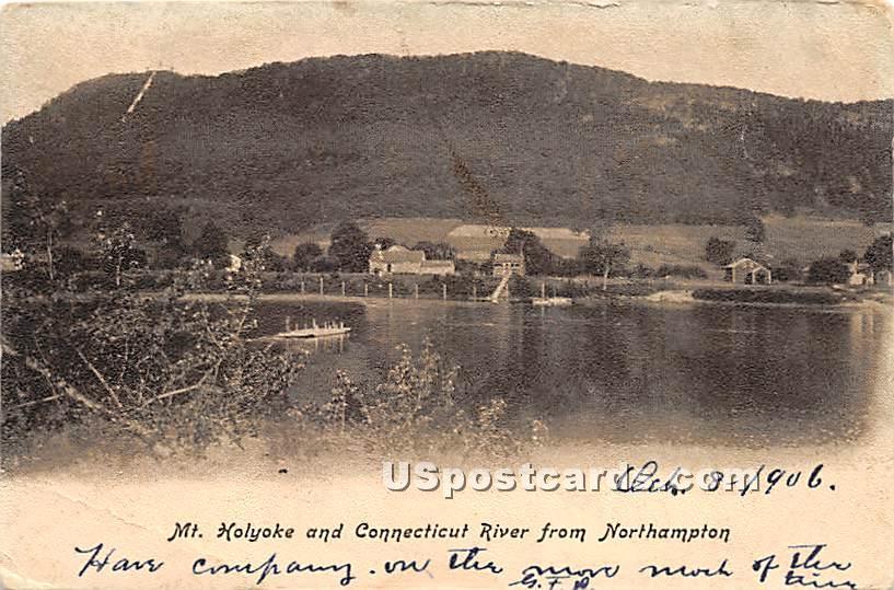 Mount Holyoke & Connecticut River - Northampton, Massachusetts MA Postcard