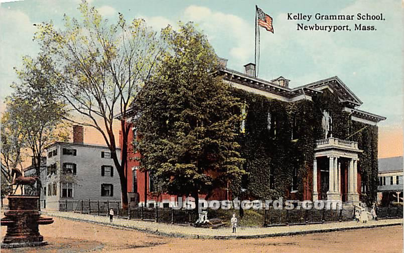 Kelley Grammar School - Newburyport, Massachusetts MA Postcard
