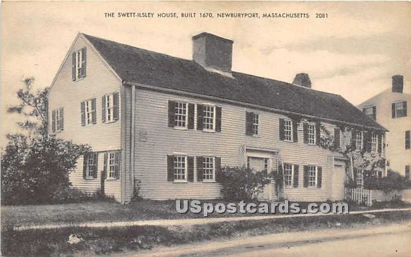 The Swett Ilsley House built 1670 - Newburyport, Massachusetts MA Postcard
