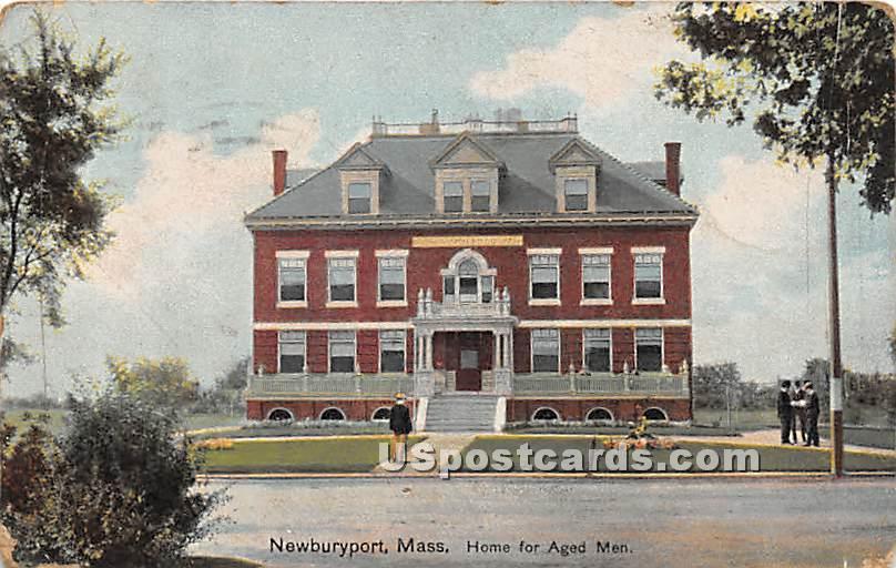 Home for Aged Men - Newburyport, Massachusetts MA Postcard