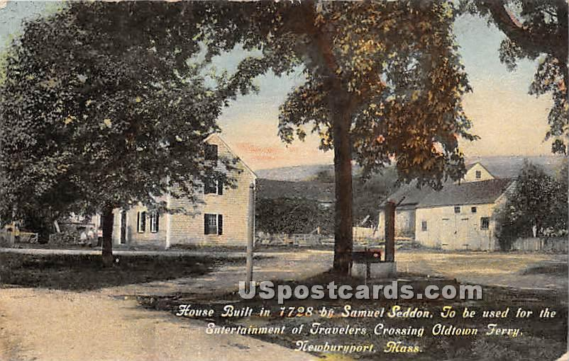House Built in 1728 by Sammuel Seddon - Newburyport, Massachusetts MA Postcard