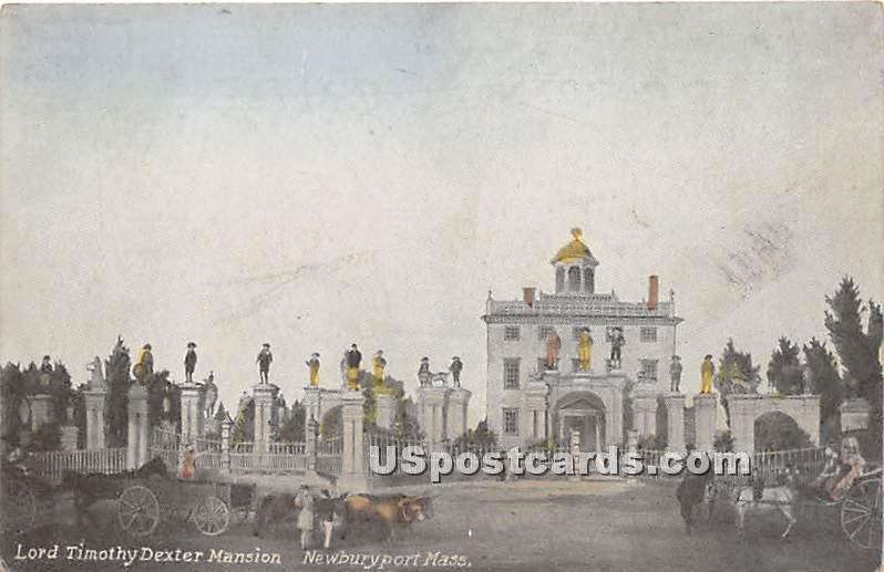 Lord Timothy Dexter Mansion - Newburyport, Massachusetts MA Postcard