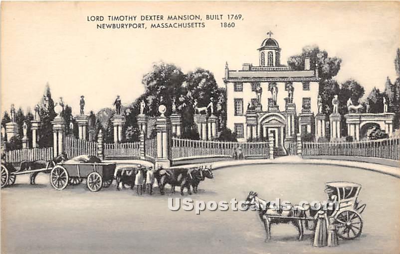 Lord Timothy Dexter Mansion Built 1769 - Newburyport, Massachusetts MA Postcard