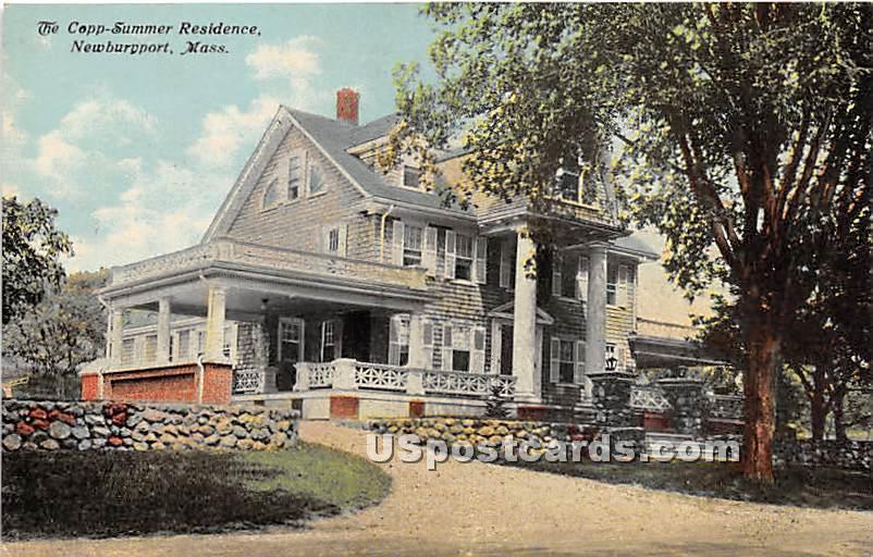 The Copp Summer Residence - Newburyport, Massachusetts MA Postcard