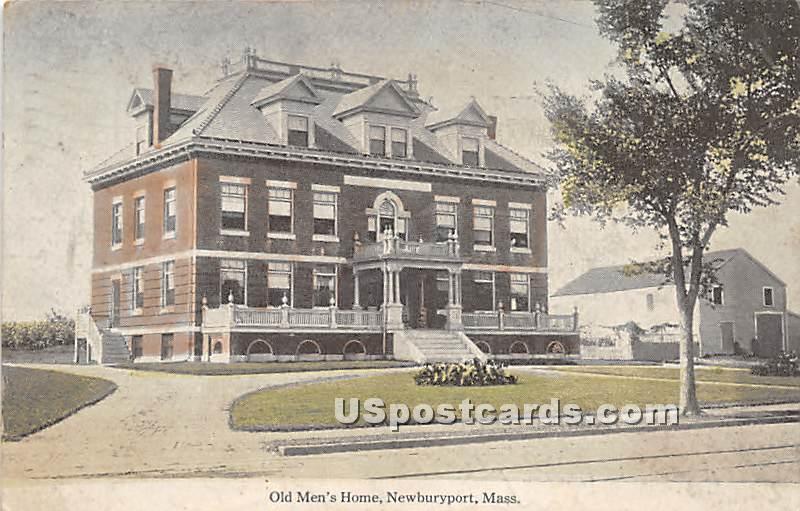 Old Men's Home - Newburyport, Massachusetts MA Postcard