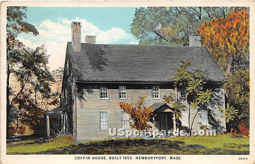 Coffin House Built 1650 - Newburyport, Massachusetts MA Postcard