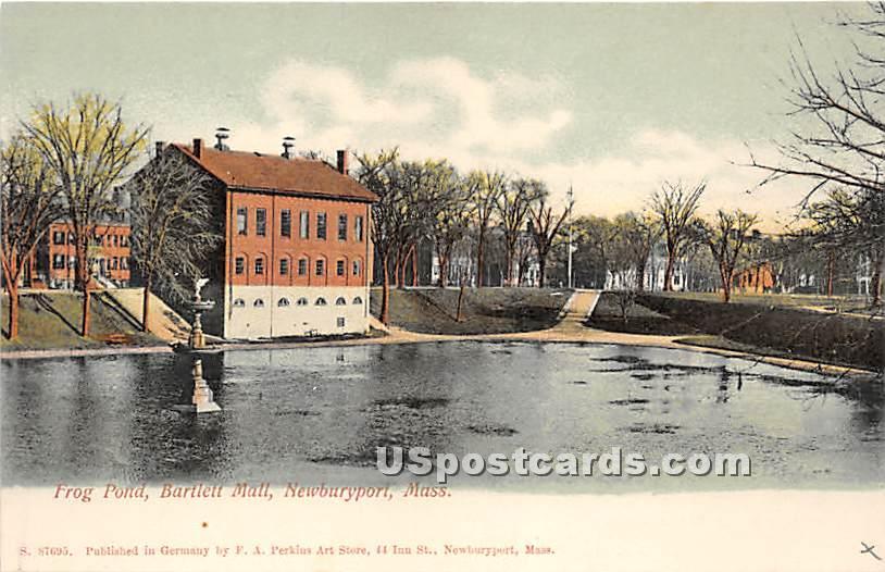 Fron Pond & Bartlett Mall - Newburyport, Massachusetts MA Postcard