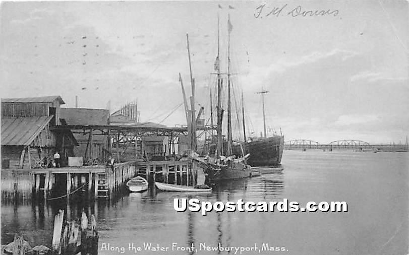 Along the Water Front - Newburyport, Massachusetts MA Postcard