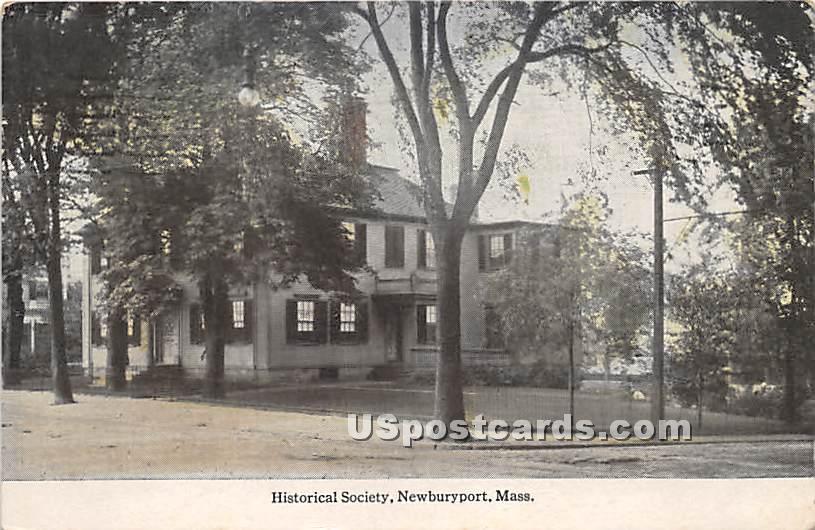 Historical Society - Newburyport, Massachusetts MA Postcard