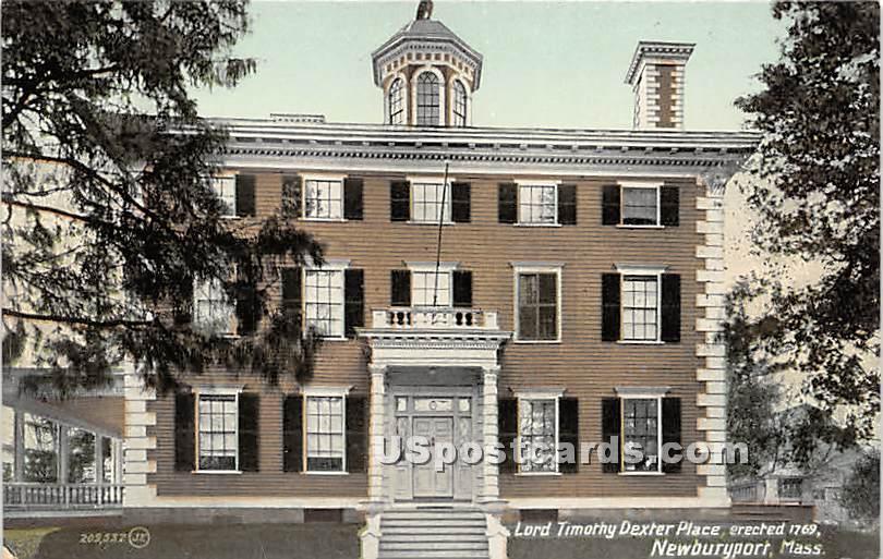 Lord Timothy Dexter Place Erected 1769 - Newburyport, Massachusetts MA Postcard