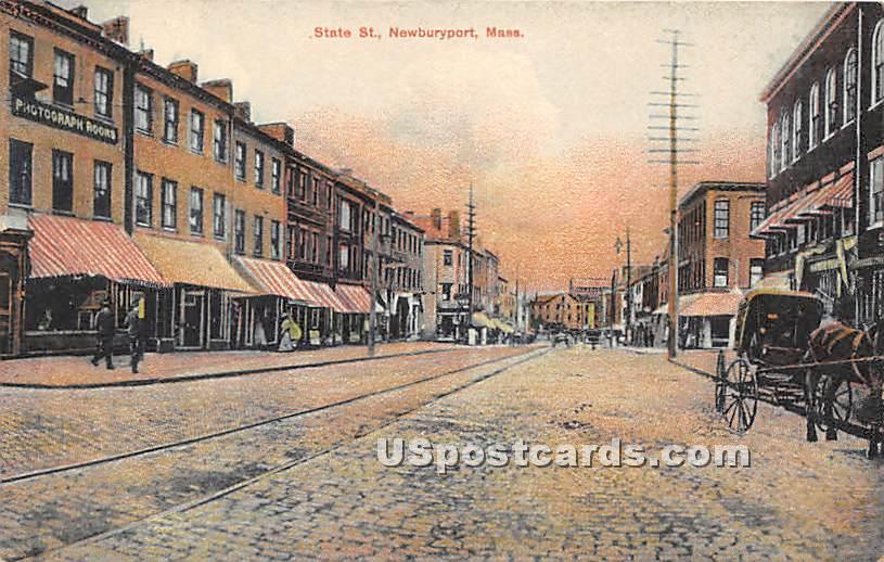 State Street - Newburyport, Massachusetts MA Postcard