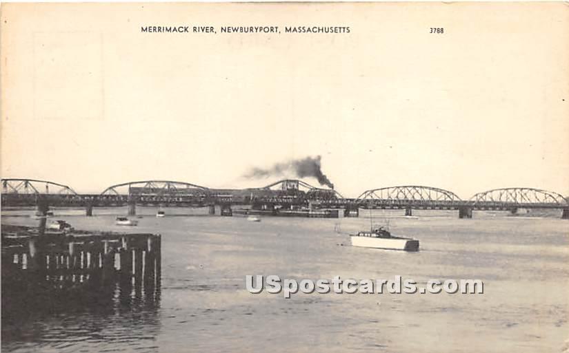 Merrimack River - Newburyport, Massachusetts MA Postcard