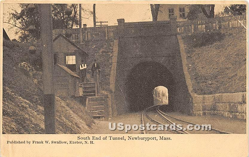 South End of Tunnel - Newburyport, Massachusetts MA Postcard