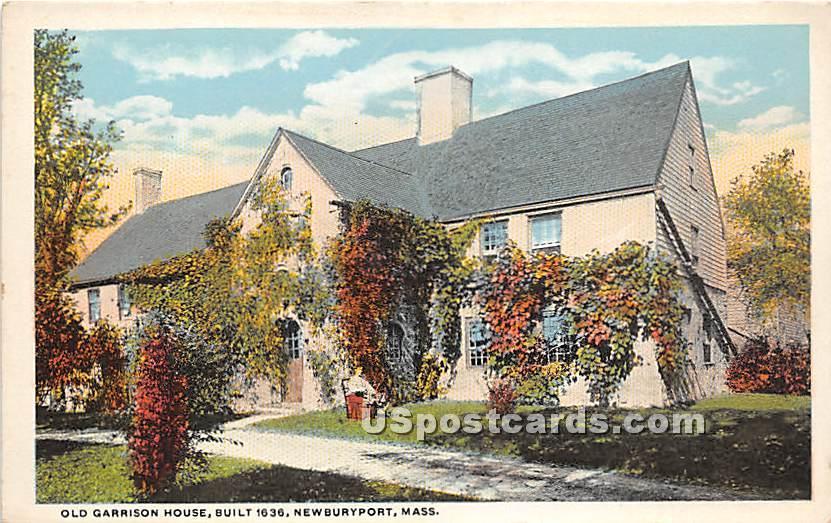 Old Garrison House built 1636 - Newburyport, Massachusetts MA Postcard
