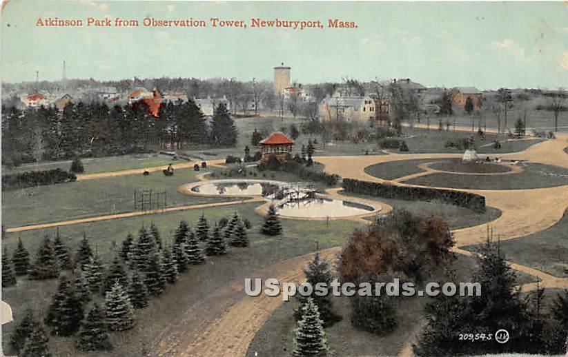 Atkinson Park from Observation Tower - Newburyport, Massachusetts MA Postcard