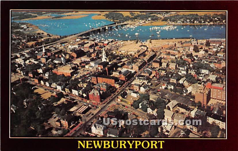 Aerial View - Newburyport, Massachusetts MA Postcard