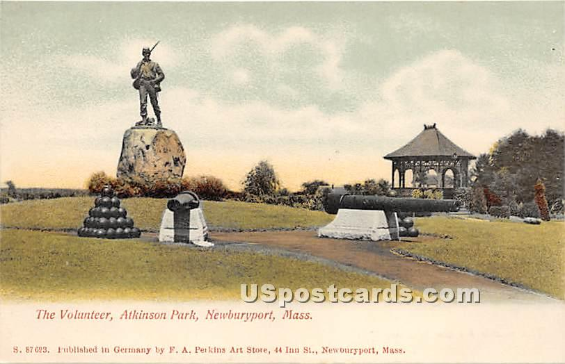 The Volunteer in Atkinson Park - Newburyport, Massachusetts MA Postcard