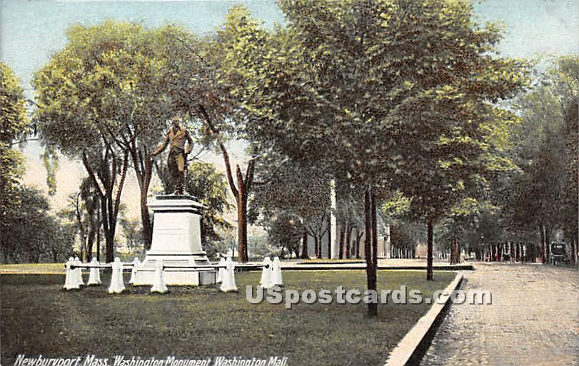 Washington Monument in Washington Mall - Newburyport, Massachusetts MA Postcard