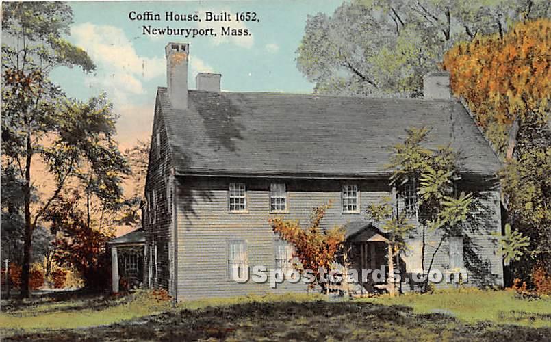 Coffins House built 1652 - Newburyport, Massachusetts MA Postcard