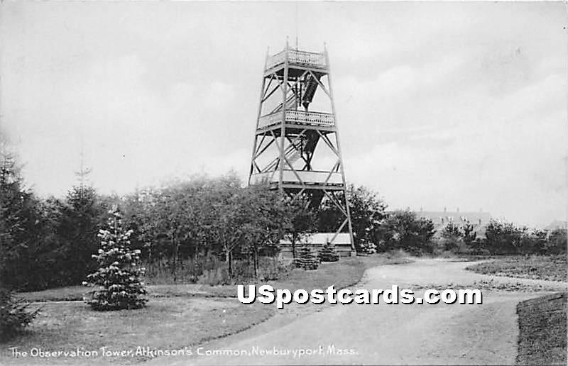 The Observation Tower in Atkinson's Common - Newburyport, Massachusetts MA Postcard