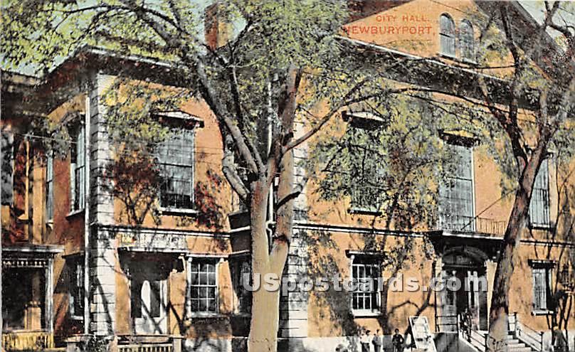 City Hall - Newburyport, Massachusetts MA Postcard