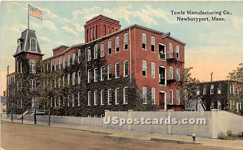 Towle Manufacturing Co. - Newburyport, Massachusetts MA Postcard
