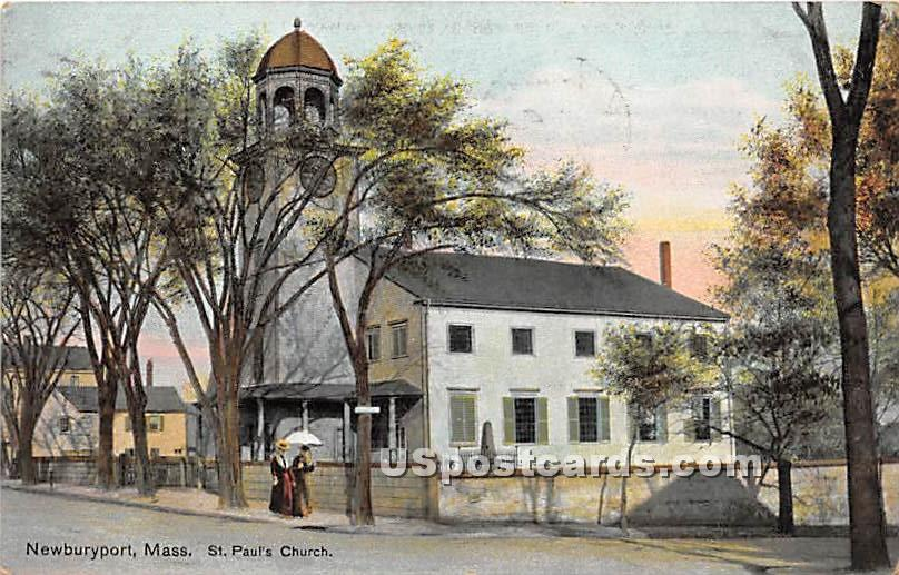 St Pauls Church - Newburyport, Massachusetts MA Postcard