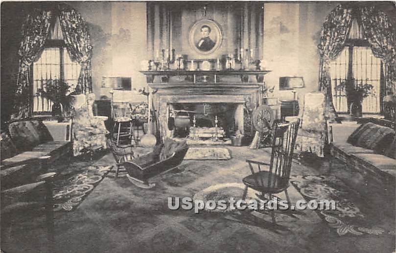 Fire Place & Lobby at Hotel Northampton - Massachusetts MA Postcard