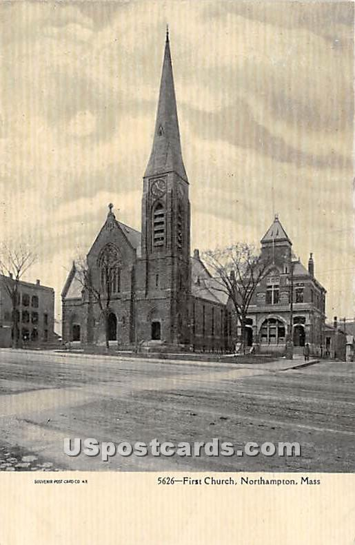 First Church - Northampton, Massachusetts MA Postcard