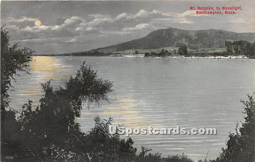 Mt Holyoke by Moonlight - Northampton, Massachusetts MA Postcard